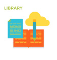 Flat design Library Icon Cloud Service vector image