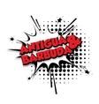 Comic text Antigua barbuda sound pop art vector image