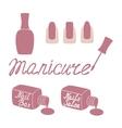 Manicure salon label vector image vector image