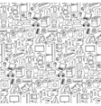 Household appliances hand drawn seamless pattern vector image
