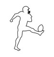 american footbal player silhouette image vector image