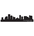 Atlantic City New Jersey skyline Detailed silhouet vector image
