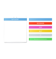 Color bookmarks set and paper sheet vector image