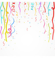 Colorful celebration ribbon with confetti vector image