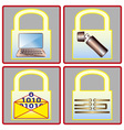 data security vector image