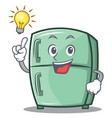 have an idea cute refrigerator character cartoon vector image
