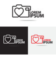 love camera logo vector image