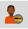 man african credit card icon design graphic vector image