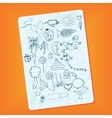 notebook page vector image