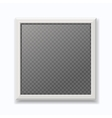 Realistic white picture frame modern empty photo vector image