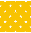 Seamless pattern with stars on yellow background vector image