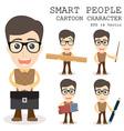 Smart people cartoon character eps 10 vector image