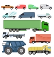 Trucks set vector image