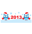 Owls And New Year vector image vector image