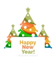 New Year and Christmas holiday elements vector image vector image