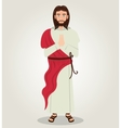 Jesus christ red cloth design vector image