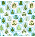 Background Christmas trees vector image vector image