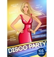 Night club party poster vector image