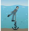 dollar anchor vector image