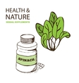 Health and Nature Supplements Collection vector image vector image