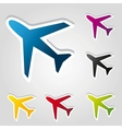 airplane stickers vector image vector image