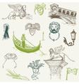 doodle venice vector image