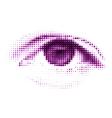 Abstract halftone digital eye EPS 8 vector image