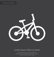 bike premium icon white on dark background vector image