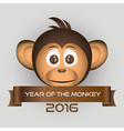 chimpanzee little monkey head and year of the vector image