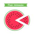 fresh watermelon logo template vector image