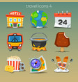 funny travel icons-set 4 vector image