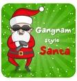 Gangnam style Santa vector image