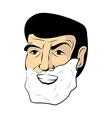 Man shaving foam Mens head Shaving beard and vector image