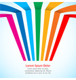 Rainbow stripes on light background vector image