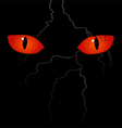 Scary eyes on the black background vector image