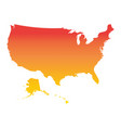 usa united states of america map colorful orange vector image
