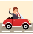 Businessman driving Business man in the vector image