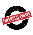 Financial Crisis rubber stamp vector image