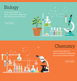 chemistry and biology laboratory science with vector image
