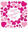 Pink Hearts - Valentines day vintage lettering vector image vector image