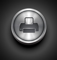printer metallic icon vector image