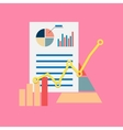 Flat modern icon of seo or business theme vector image