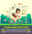 Benefits of cycling bicycle Bicycle infographics vector image
