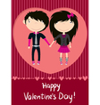 love couple emo boy and girl greeting card vector image vector image