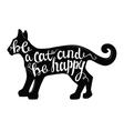 black cat icon vector image