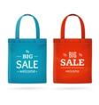 Color Sale Bag Labels Set vector image vector image