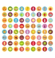 Big Collection of Food icons in Flat Design vector image