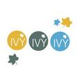 cafe retail restaurant round logo ivy vector image