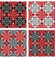 checkered patterns set vector image