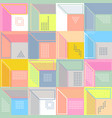 geometric abstract seamless pattern simple motif vector image